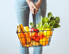 Vegetables and Fruit in the Basket